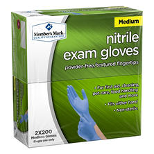 Member's Mark Nitrile Exam Gloves (Medium)