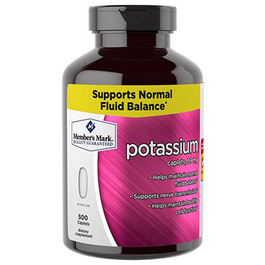 Member's Mark 99 mg Potassium Dietary Supplement (500 ct.)
