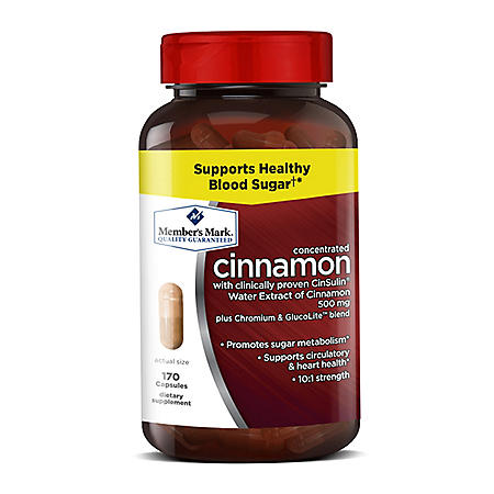 Member's Mark 500mg Cinnamon Dietary Supplement (170 ct.)