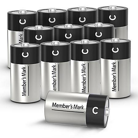 Member's Mark Alkaline C Batteries (12 Pack)