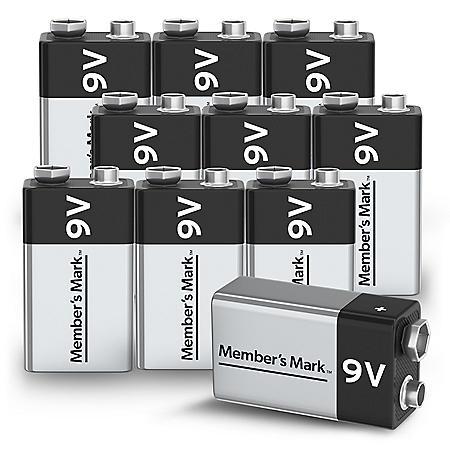 Member's Mark Alkaline 9V Batteries (10 Pack)