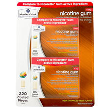 Member's Mark 4mg Nicotine Gum, Fruit Wave (220 ct.)