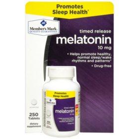 Member's Mark Timed Release Melatonin 10mg (250 ct.)