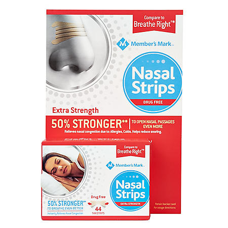 Member's Mark Extra Strength Nasal Strips, Tan (44 ct..)