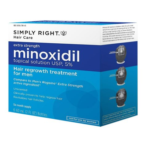 Simply Right Minoxidil - 6/60ml (6 month supply)