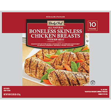 Daily Chef Boneless Skinless Chicken Breast  (10 lbs.)