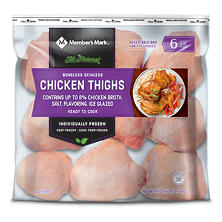 Tyson Boneless Skinless Chicken Thigh Portions (6 lb. bag)
