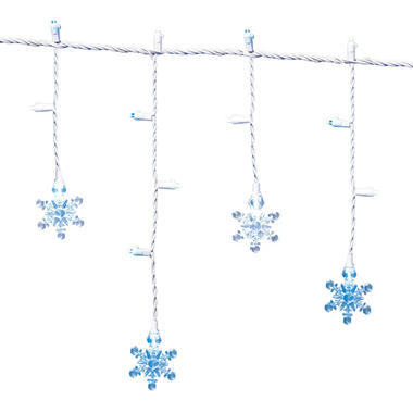 12ft LED Snowflake Icicle Lights