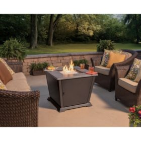 "Member's Mark 30"" Square Gas Outdoor Fire Pit Table by Blue Rhino"