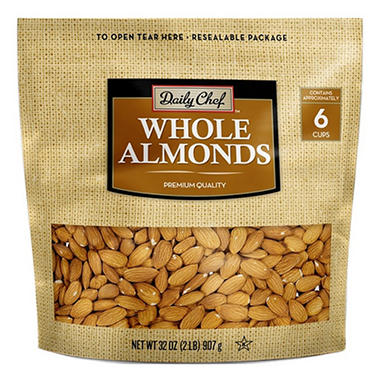 Daily Chef Natural Whole California Almonds (32 oz.)