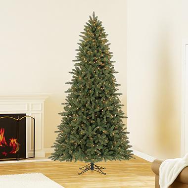 9 ft members mark artificial pre lit lansing pine christmas tree