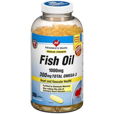 Member's Mark® Fish Oil - 1000mg/350ct