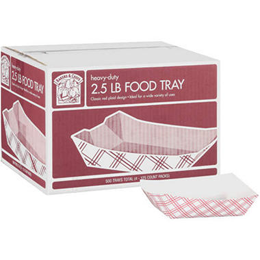 Bakers & Chefs Food Tray - 2.5 lbs. - 500 ct.