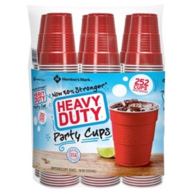 Member's Mark Heavy-Duty Red Cup 18 oz. (Choose Your Count)