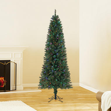 7 ft member 39 s mark artificial pre lit color changing brinkley pine pencil christmas tree sam 39 s. Black Bedroom Furniture Sets. Home Design Ideas