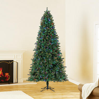 9 ft members mark artificial pre lit coloring changing virginia pine christmas tree - Is Sams Club Open On Christmas Eve