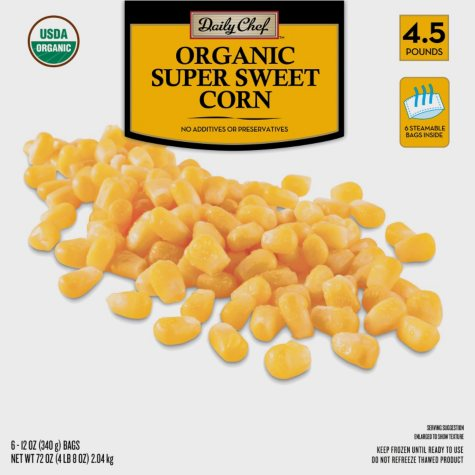 Daily Chef Organic Super Sweet Corn (12 oz. bag, 6 ct.)