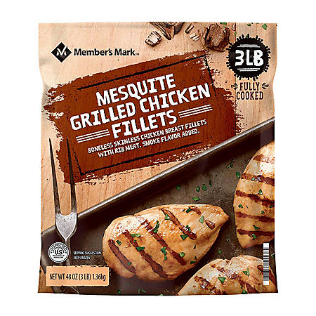 Member's Mark Mesquite Grilled Chicken Breast, Frozen (3 lbs.)