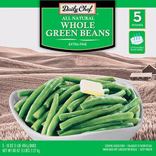 Daily Chef Whole Green Beans (1 lb. bag, 5 ct.)