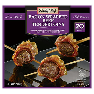 Daily Chef Bacon Wrapped Tenderloins (12 oz., 20 ct.)