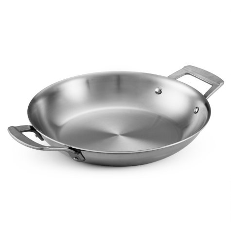 "Daily Chef 10"" Tri-Ply Clad Round Au Gratin Pan"