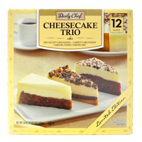 Daily Chef Cheesecake Trio (54 oz., 12 slices)