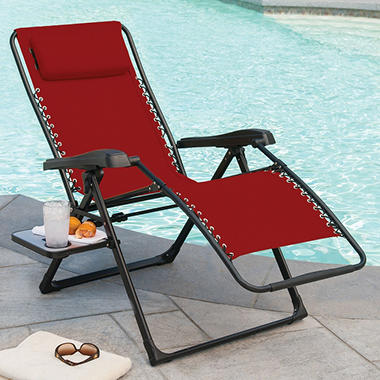 Charmant Members Mark XL Sunbrella Reclining Chair, Red