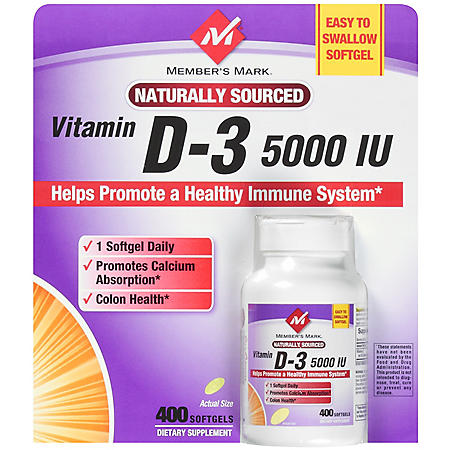 Member's Mark® Vitamin D3 5000 IU