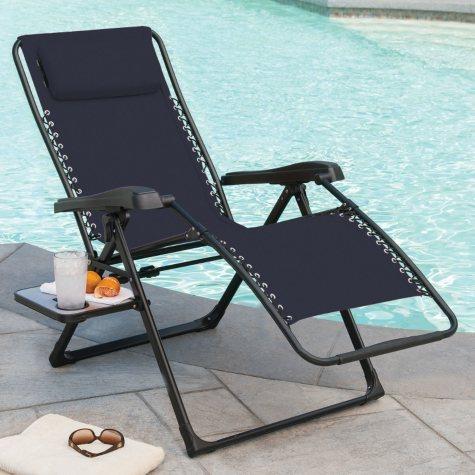 Members Mark XL Sunbrella Reclining Chair, Indigo