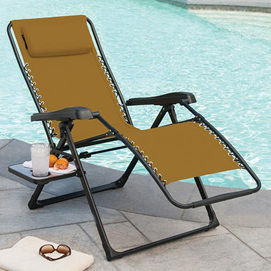 Beau Members Mark XL Sunbrella Reclining Chair, Beige