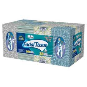 Member's Mark 2-Ply Facial Tissue, 12 pk., 1,968 tissues (164 ct. per box)