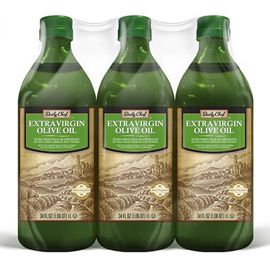 Daily Chef Extra Virgin Olive Oil (1 L., 3 ct.)