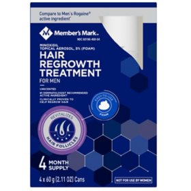 Member's Mark Minoxidil 5% Foam (2.11 oz., 4 ct.)