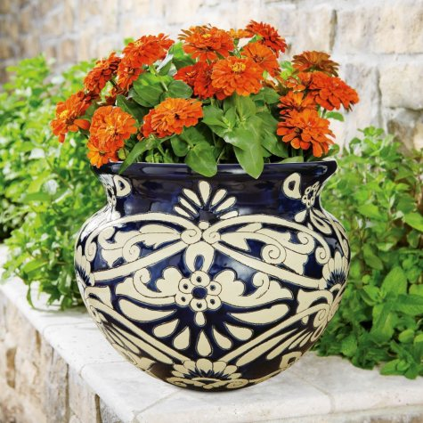 "16"" Castilla Ceramic Planter"