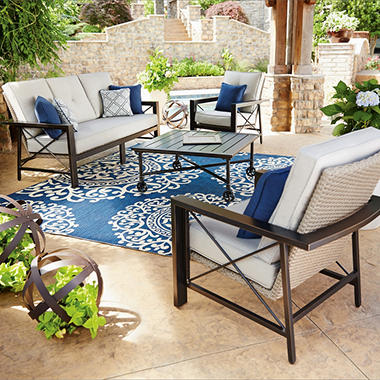 Member 39 s mark katana 4 piece seating set sam 39 s club for Best rated patio furniture