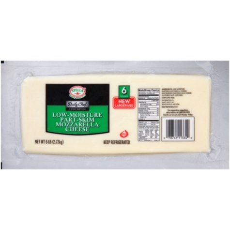 Daily Chef Low-Moisture Part-Skim Mozzarella Cheese (6 lb.)