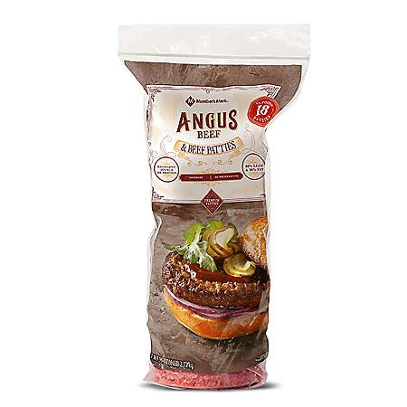 Member's Mark Ground Angus Beef Patties (1/3 lb, 18 ct.)
