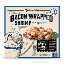 Member's Mark Bacon Wrapped Shrimp with Pepper Jack Cheese (14 ct.)