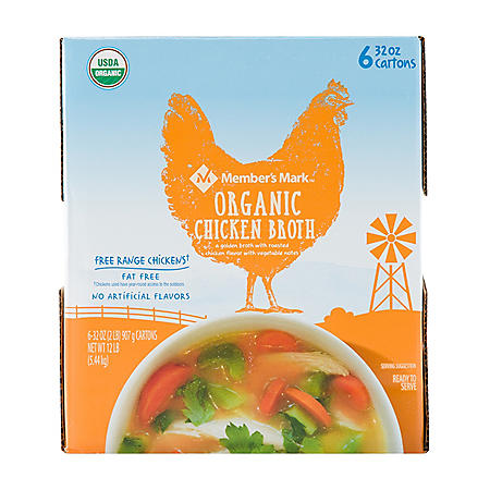 Member's Mark Organic Chicken Broth (32 oz., 6 pk.)
