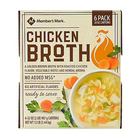 Member's Mark Chicken Broth (32 oz., 6 pk.)