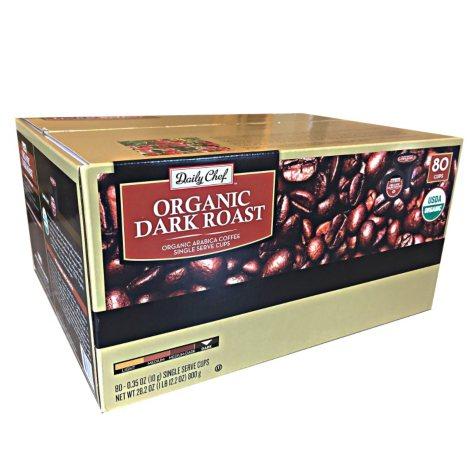 Daily Chef Organic Dark Roast Coffee (80 single-serve cups)