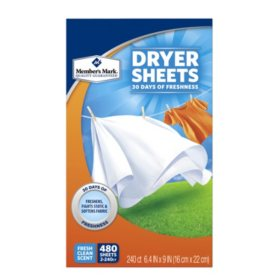 Member's Mark Fabric Softener Sheets (480 ct.)