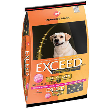 Member's Mark? Exceed Chicken & Rice Dog Food - 44 lbs.