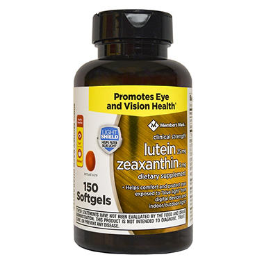 Members Mark Clinical Strength 25mg Lutein Zeaxanthin
