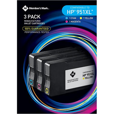 Member's Mark Remanufactured HP 951XL Color Multi Pack