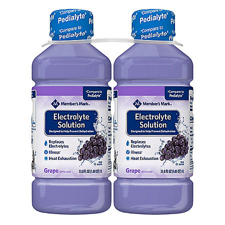 Member's Mark Electrolyte Solution, Grape (33.8 fl. oz., 2 pk.)