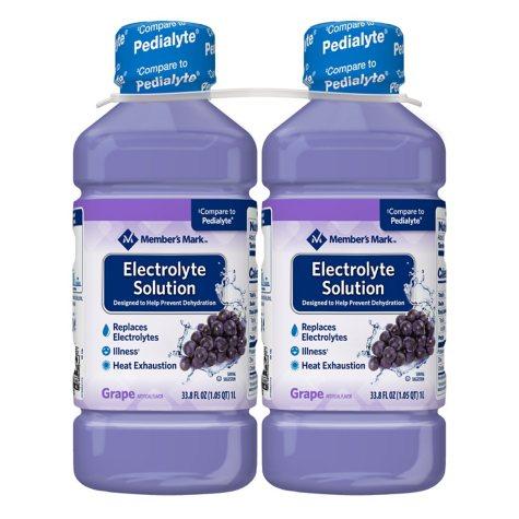 Member's Mark Electrolyte Solution, Grape (33.8 fl. oz., 2 pk.)