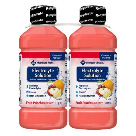 Member's Mark Electrolyte Solution, Fruit Punch (33.8 fl. oz., 2 pk.)