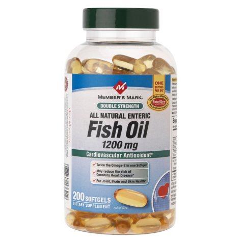 Member's Mark® Fish Oil - Double Strength - 200 ct.