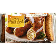 Member's Mark Mild Green Chile & Monterey Jack Cheese Chicken Sausage (16 links)